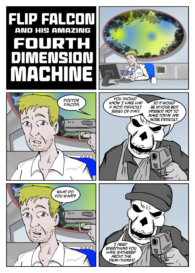 26-FLIP FALCON AND HIS AMAZING 4TH DIMENSION MACHINE